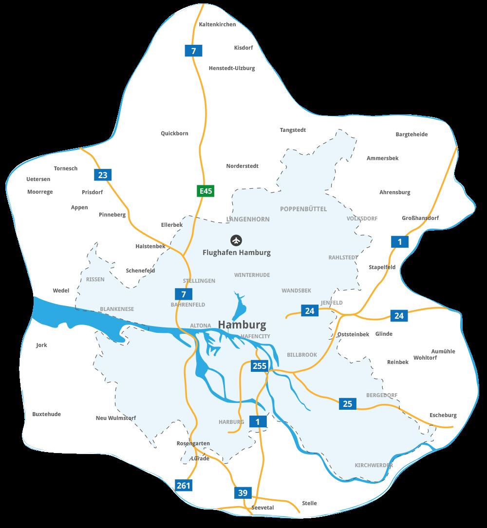 Winterdienst in der Region Hamburg